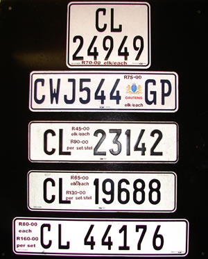 Examples of our Number Plates